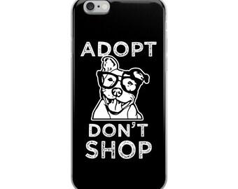 Adopt Don't Shop iPhone Case - Pitbull Rescue Phone case