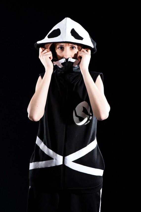 Pokemon Sun & Moon Team Skull grunt inspired cosplay hoodie IoIrfAVcb