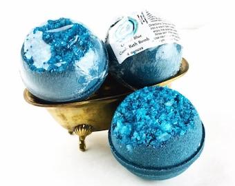 Geode Bath Bomb, Blue Crystal Bathbomb, Gem Bath Bomb, Pretty Bath Bomb, Blue Bathbomb, Geode Bathbomb, Crystal Bath Bomb, Sparkling Bathbom