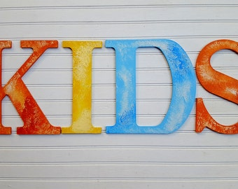 Name Wall Letters - Large Name Letters - Kids Name Letters - Nursery Letters - Rustic Wall Letters - Vintage Kids Room