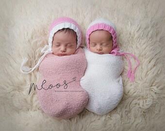 photography prop hat, twin girls prop, newborn prop, newborn photo prop, girl photo prop, girl prop, photo prop hat, girls prop bonnet