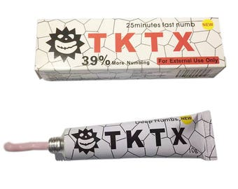 TKTX 39% Stronger Numbing Tattoo Piercing Body Anesthetic Fast Skin Numb Cream