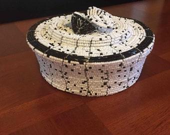 handmade beaded gift basket