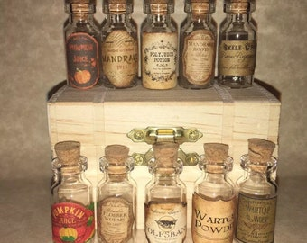 Small Apothecary Potion Bottles Halloween Witch Wizard For Harry Potter Party Props 2ml Handmade