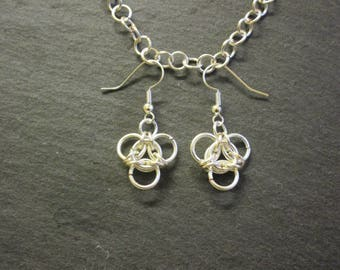 Aura Chainmail Earrings
