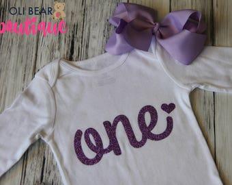 First Birthday Onesie, Baby Girl 1st Birthday Outfit, One Onesie, First Birthday Girl, Birthday Onesie, One Onesie Girl, 1st Birthday, One