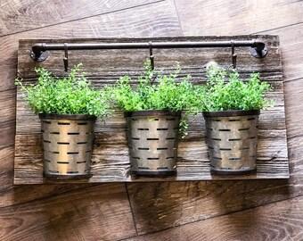 Rustic Olive Basket Hanging