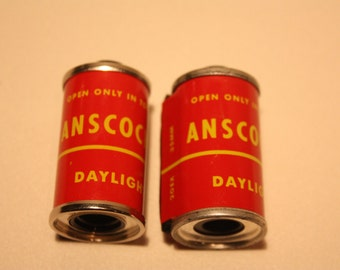 Vintage Anscochrome Empty Film Canisters