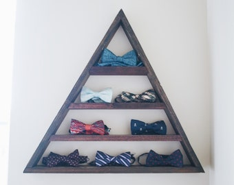geometric triangle shelf