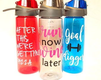 Customized Water Bottle 28oz with pop-open lid