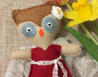 """Handmade Felt Owl """"Olivia"""""""