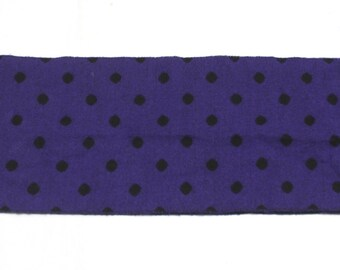 "90's Vintage 'POLKA PURPLE"" Reversable Purple polka dot Scarf"