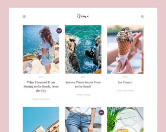 Demi: Grid-based Blogger theme, Responsive Blogger template, Blogger theme