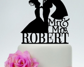 Superman Cake Topper, Wedding Cake Topper,Mr and Mrs Cake Topper With last name,Superman and Bride Cake Topper,Super Hero Wedding C165