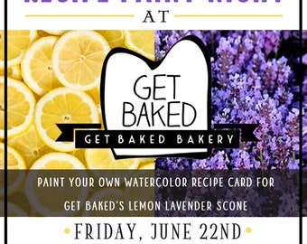 Recipe Paint Night at Get Baked