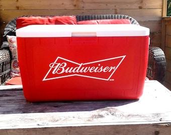 Vintage 1980'S Coleman Budweiser cooler promotional item