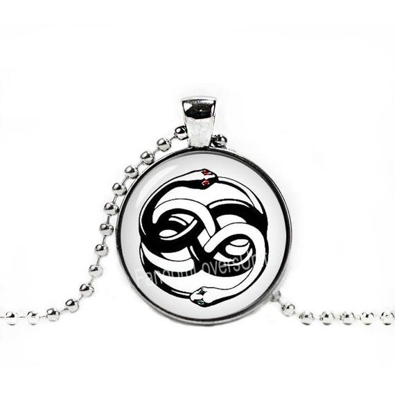 Auryn necklace neverending story pendant ouroboros necklace mozeypictures Choice Image