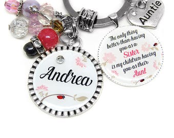 Sister Keychain Gift/ Caring Sister Gift/ For Sister From Sister/ Sister To Sister Aunt/ Sister To Sister Keychain/ Sister Chain Gift/Auntie