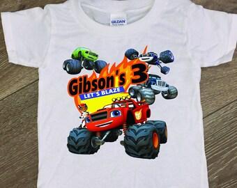 Blaze and the Monster Machines, Blaze shirt, Truck Shirt, Truck Birthday, Blaze birthday, Monster Trucks