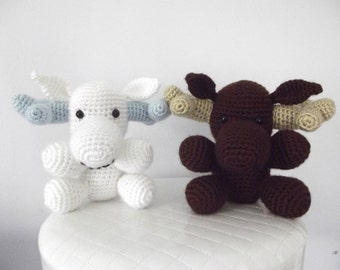 Crochet Moose Pattern Crochet Pattern Moose Stuffed Animal Moose Toy Easy Crochet Pattern Amigurumi Instant Download PDF Baby Toy Moose