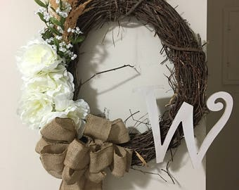 Spring wreaths for front door, country home decor, everyday wreath, all year wreath, wreaths for front door, spring wreath
