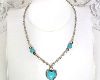 Turquoise heart Choker necklace