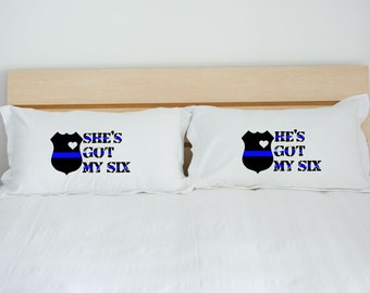 police officer gifts police gift blue line gift police wife thin blue line LEO gift law enforcement blue lives matter pillowcase pillow case