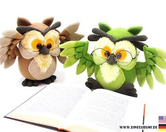 Owl crochet pattern amigurumi
