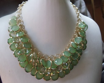 Statement necklace Amanda lime green