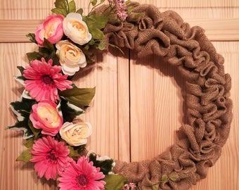 Pink bloom wreath