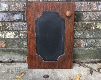 chalkboard, upcycled chalkboard, chalk board, kitchen chalkboard, upcycled cabinet door, upcycled, cabinet door.