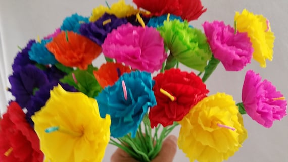 Day of the dead 10 paper flowers dia de los muertos mexican like this item mightylinksfo Choice Image