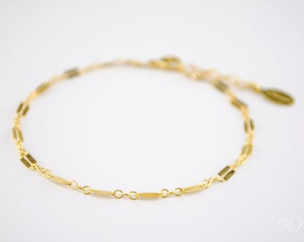 Delicate Gold Bracelet, Stacking Bracelet, Thin Gold Chain, Gold Layering Bracelet, Chain Bracelet, rose gold, christmas gifts for her