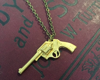 Pistol Charm Necklace