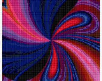 Stunning Midnight Bow Cross Stitch PDF Pattern, Chart