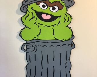 2ft Oscar the Grouch Sesame Street Decoration, Sesame Street, Sesame Street Party, Party Decoration