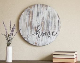 Home Sign - Fixer Upper Style - Farmhouse Sign - Rustic Home Decor - Housewarming Gift - Farmhouse Decor - Wooden Sign - Rustic Wood Sign