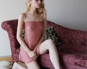 sheer lingerie set including lace trimmed babydoll camisole and panties - ROMANTIC sheer mesh lingerie range - made to order