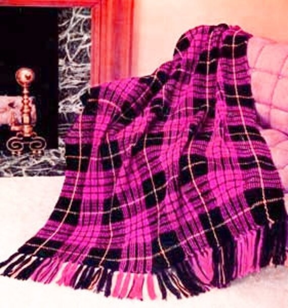 Plaid Afghan Crochet Blanket Pattern Pdf Instant Download