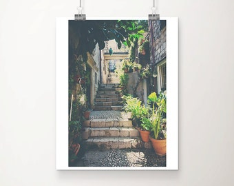 Dubrovnik photograph stairs photograph travel photography architecture photography Croatia photograph Dubrovnik print travel print