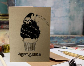 Funny, Birthday, Love, Anniversary Screen Printed by Hand Card.