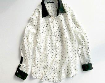 Giacometti vintage star print button-down shirt