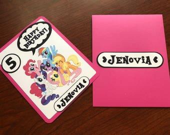 Personalized My Little Pony Birthday Card