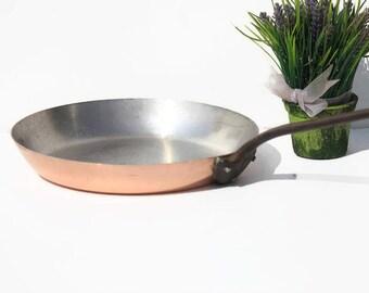 French Copper Vintage Saute Pan,pot, frying pan ,saucepan French copper, cuisine