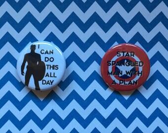 Captain America / Steve Rogers Pinback Button