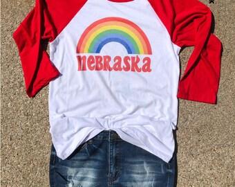Nebraska Retro Baseball Tee,  Cornfed