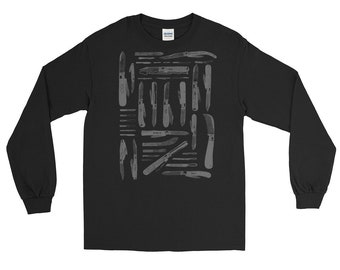 Long Sleeve T-Shirt | Nu Goth Knife Murdered Out | Days of our Knives