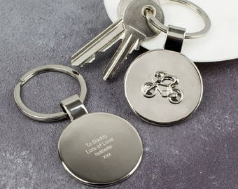 Personalised cycling keyring - Sports - Cyclist - Bike - Gift - Keychain - Accessories - Athlete - E07763