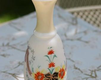 Bristol Vase Victorian Satin Glass