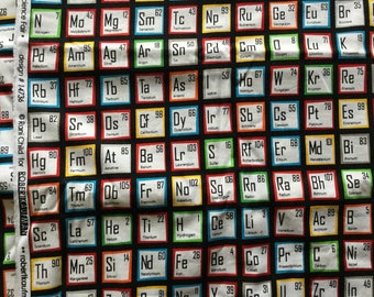 Robert Kaufman periodic table quilting fabric: 2.12m plus a bit of extra cut-off piece.